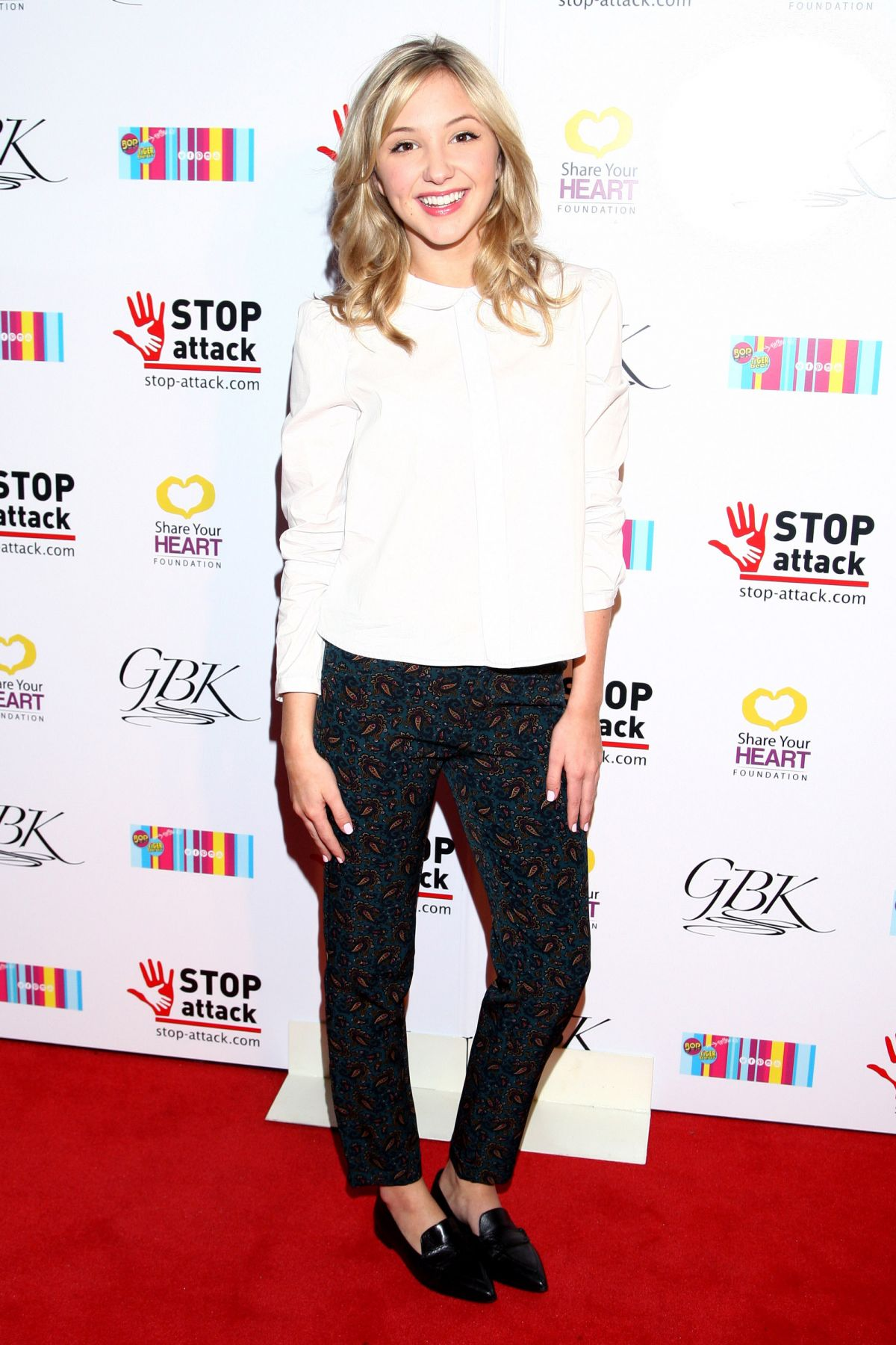 AUDREY WHITBY at GBK & Stop Attack Pre Kids Choice Gift Lounge in Hollywood