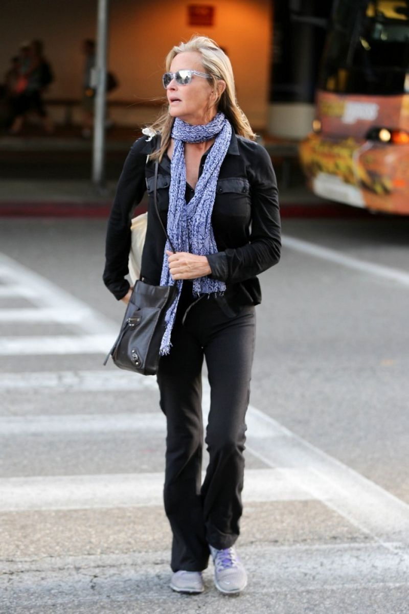 BO DEREK at LAX airport in Los Angeles