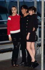 CARA DELEVINGNE and DAKOT JOHNSON Leaves Karl Lagerfeld's Cruise with Karl Boat Party in New York