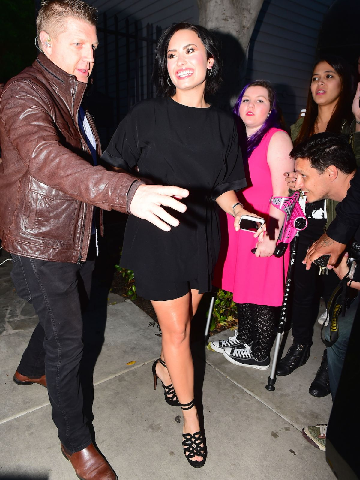DEMI LOVATO at 1st Annual Lovato Scholarship Benefit in Los Angeles
