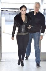 DEMI LOVATO in Tights Arrives at JFK Airport in New York 1203