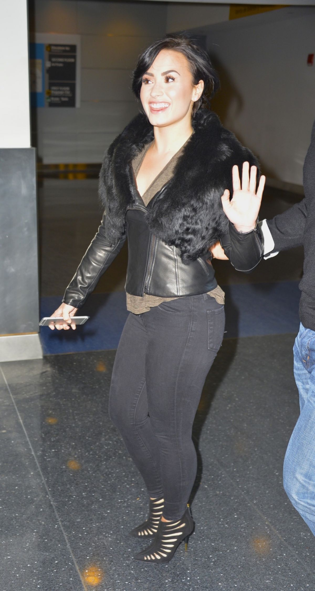 DEMI LOVATO in Tights Arrives at JFK Airport in New York ...