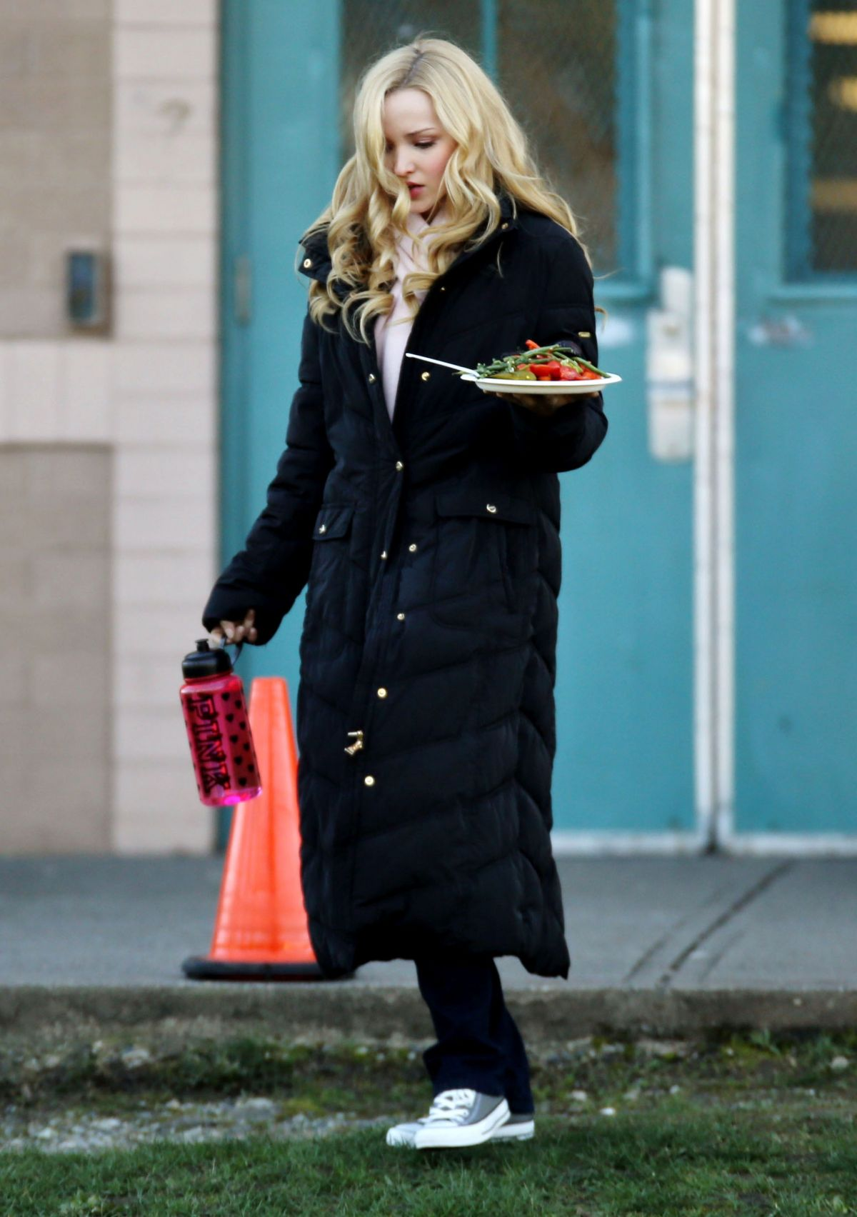 DOVE CAMERON on the Set of Monsterville the Cabinet of Souls in Vancouver 0302