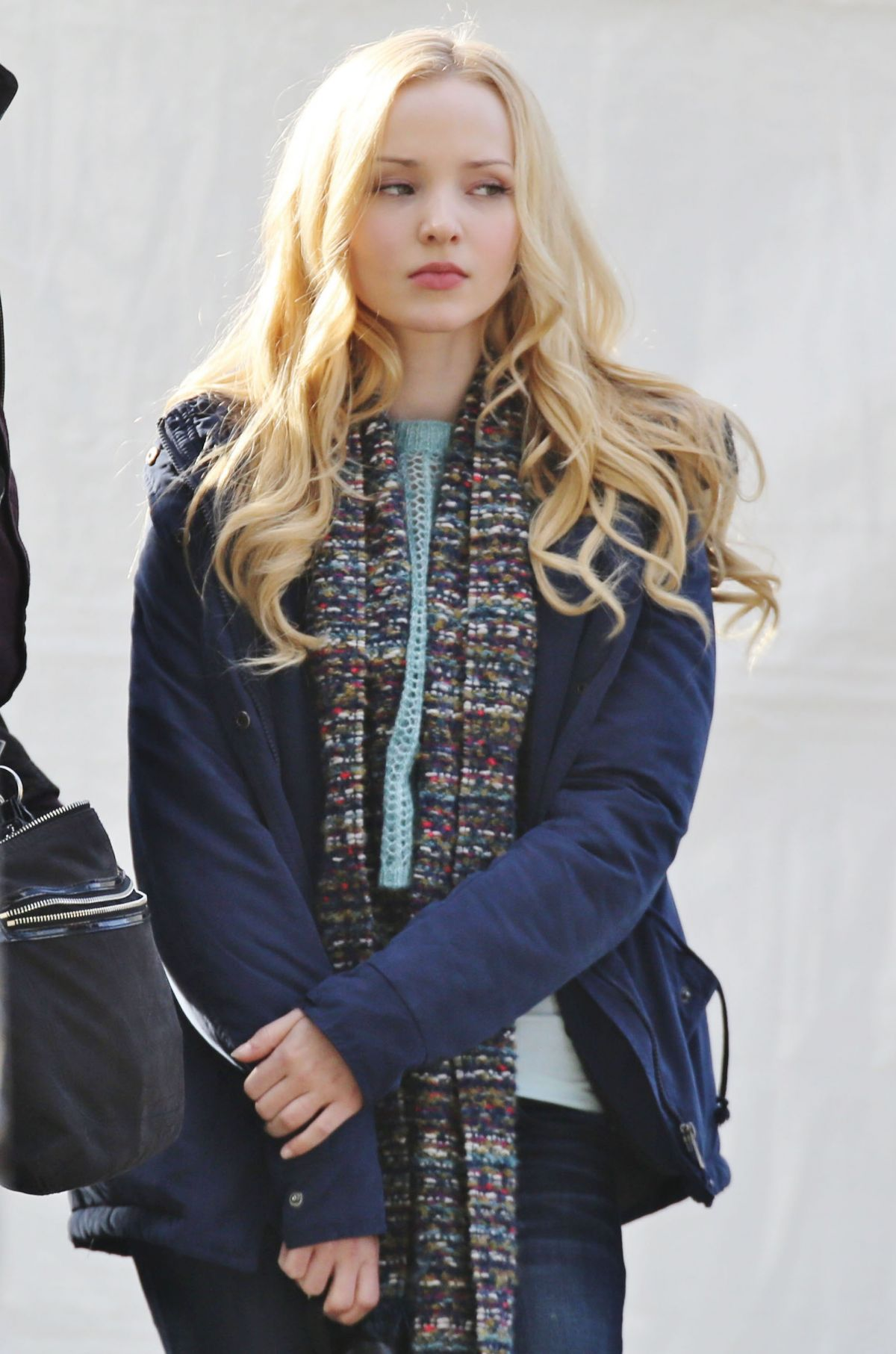 DOVE CAMERON on the Set of Monsterville the Cabinet of Souls in Vancouver