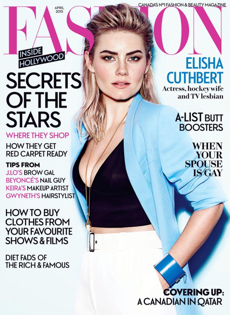 ELISHA CUTHBERT In Fashion Magazine, April 2015 Issue
