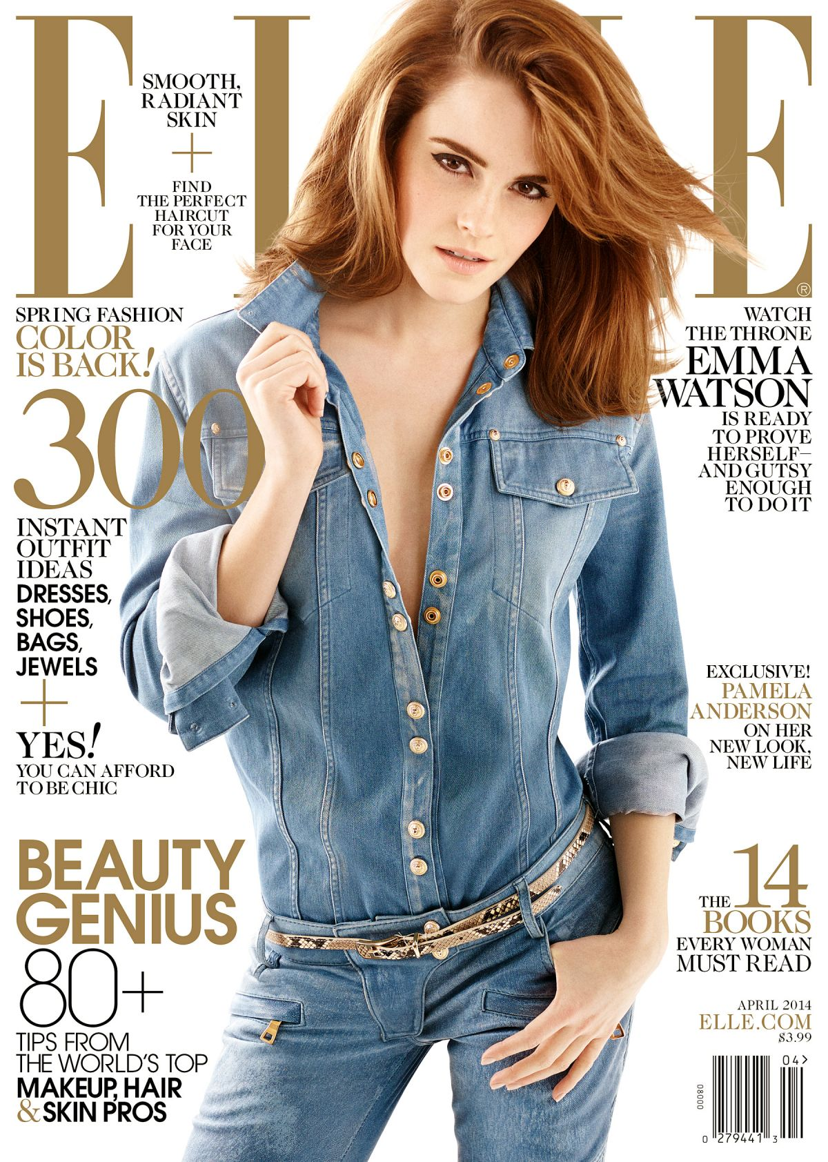 EMMA WATSON in Elle Magazine, April 2014 Issue