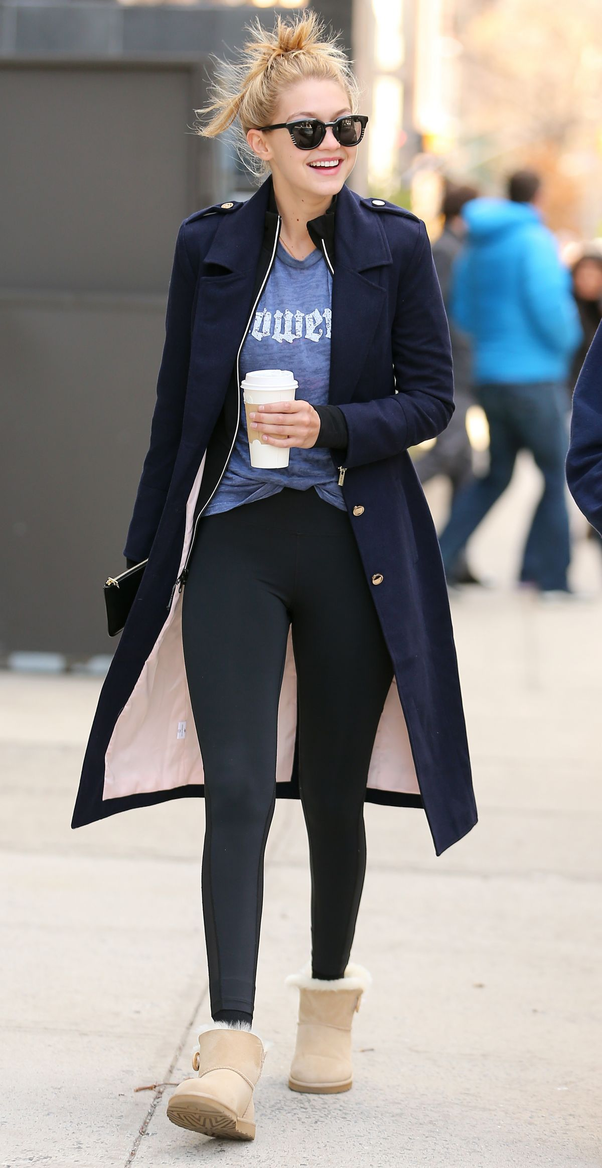 GIG HADID in Tights Out and About in New York 1903