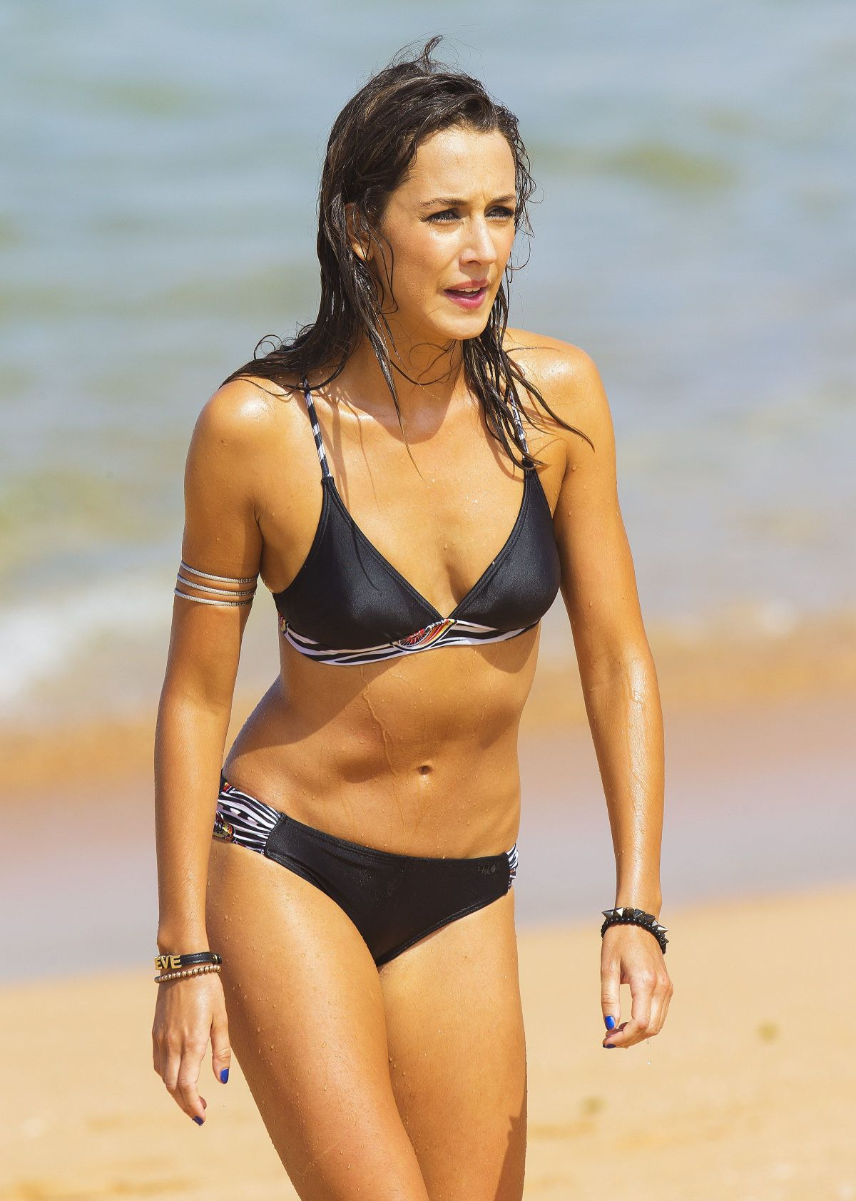 ISABELLA GIOVINAZZO on the Set of Home & Away on the Beach in Sydney in Australia