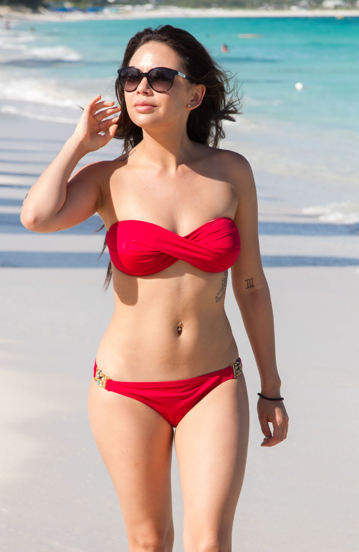 JANEL PARRISH in Bikini at Beach on the Turks & Caicos Resort Villages & Spa in Providenciales