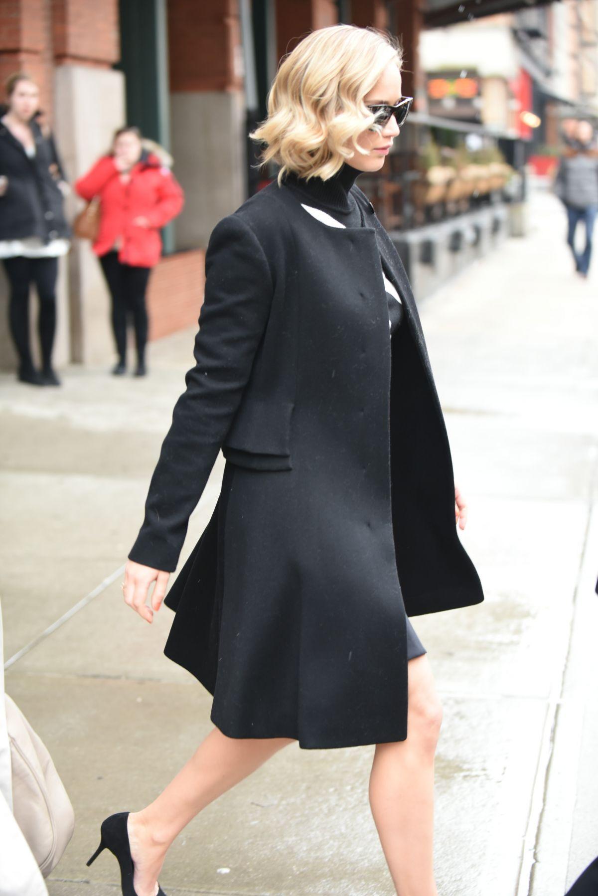 Jennifer Lawrence Leaves Greenwich Hotel In New York