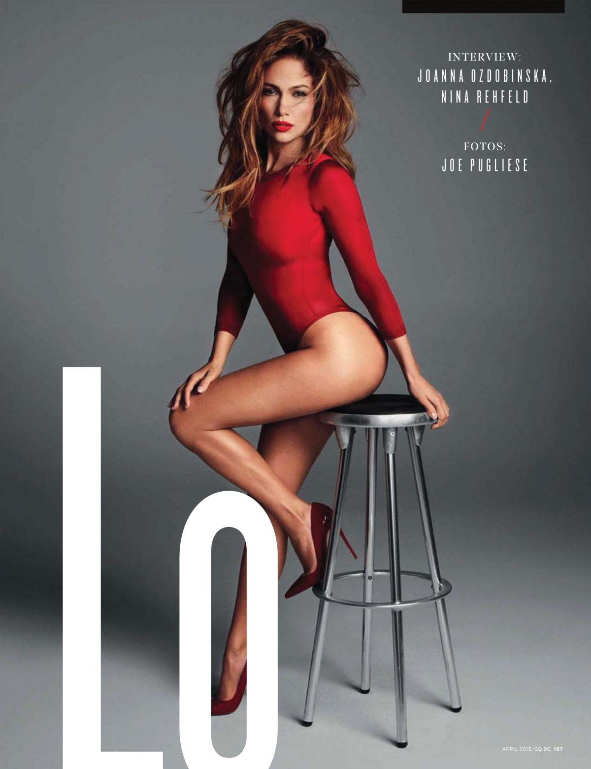 2015 Gq Men Of The Year Party In Los Angeles: JENNIFER LOPEZ In GQ Magazine, Germany April 2015 Issue