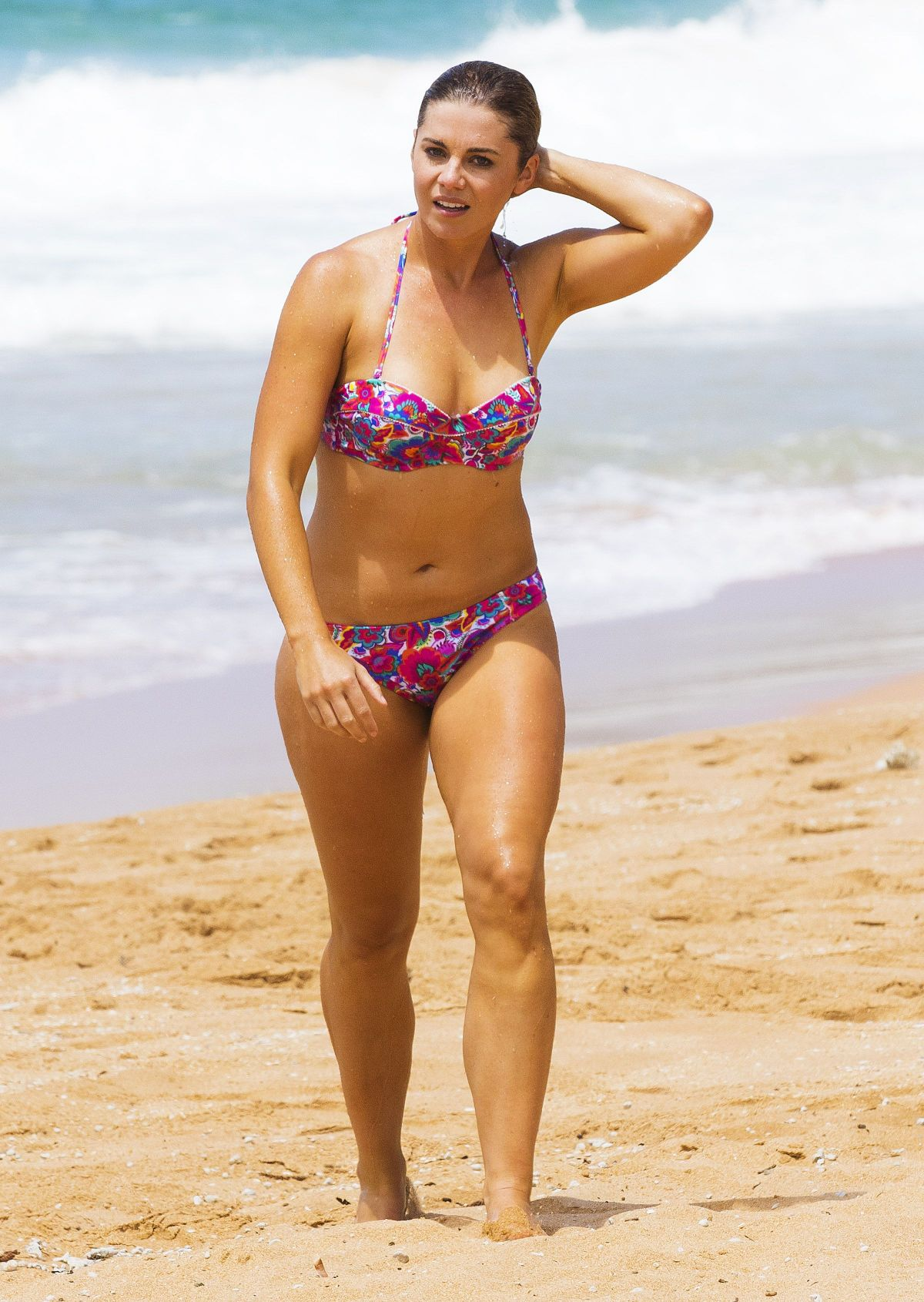 JESSICA GRACE SMITH on the Set of Home & Away on the Beach in Sydney