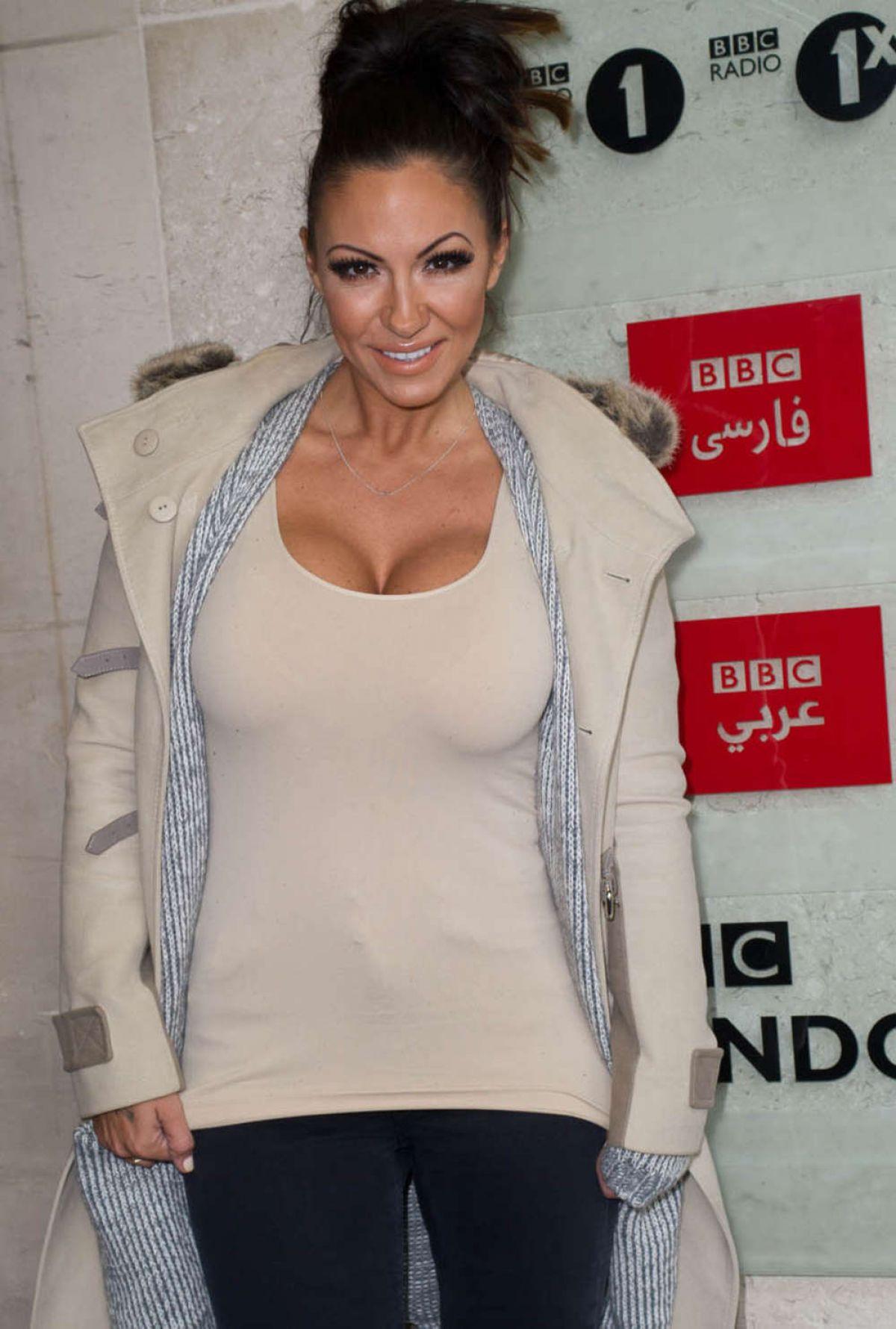 JODIE MARSH Leaves BBC Studios in London
