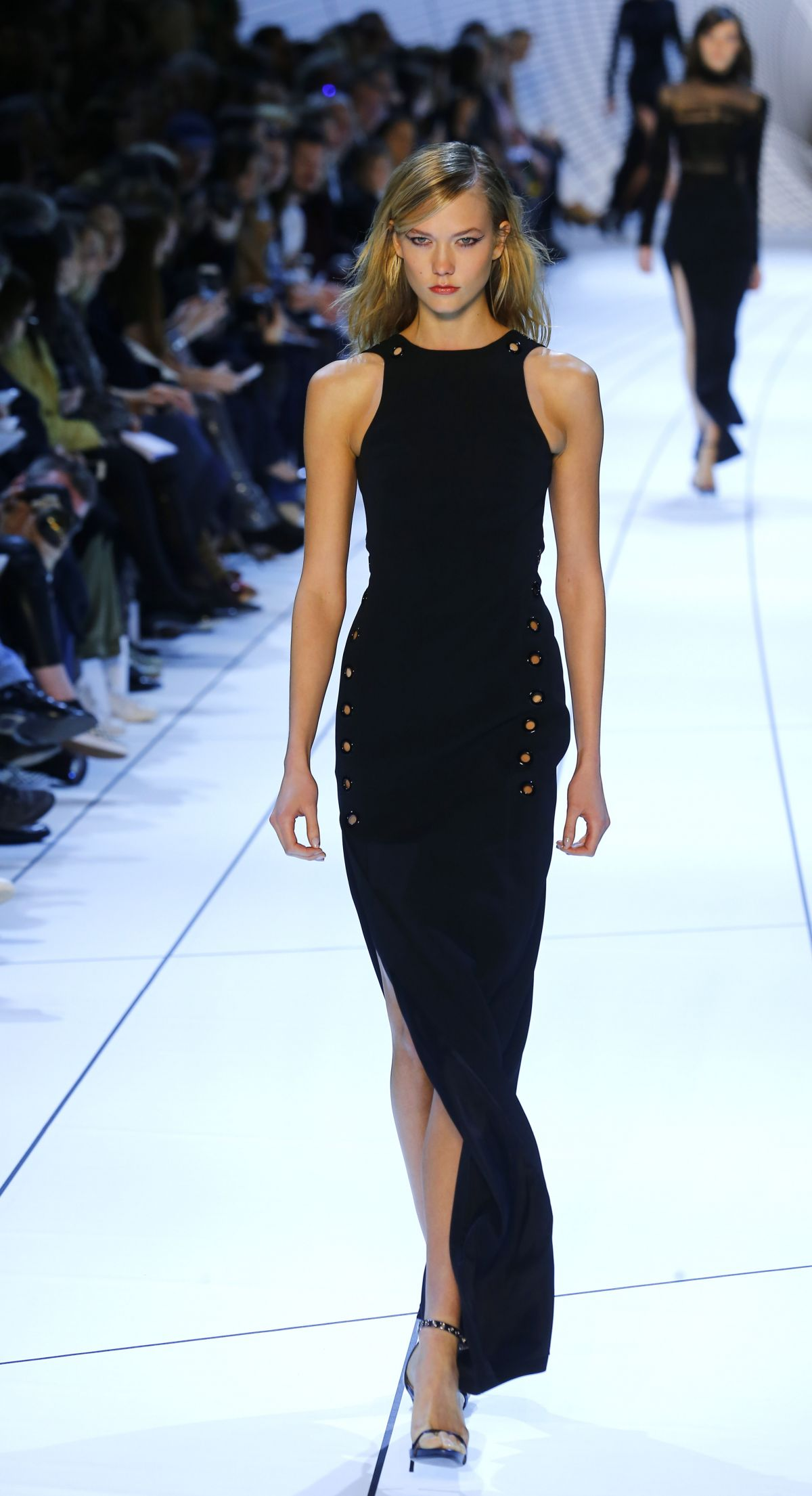 Karlie Kloss At Mugler Fashion Show In Paris Hawtcelebs