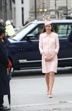 KATE MIDDLETON at Observance for Commonwealth Day service at Westminster Abbey in London