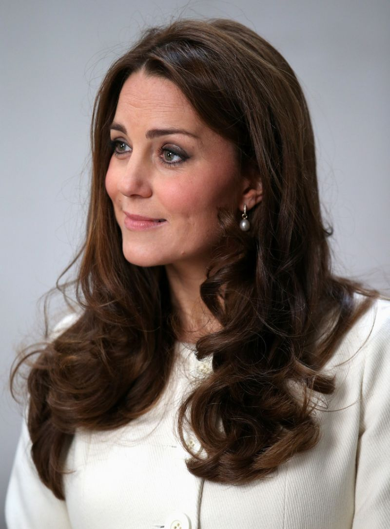 KATE MIDDLETON on the Set of Downton Abbey in London