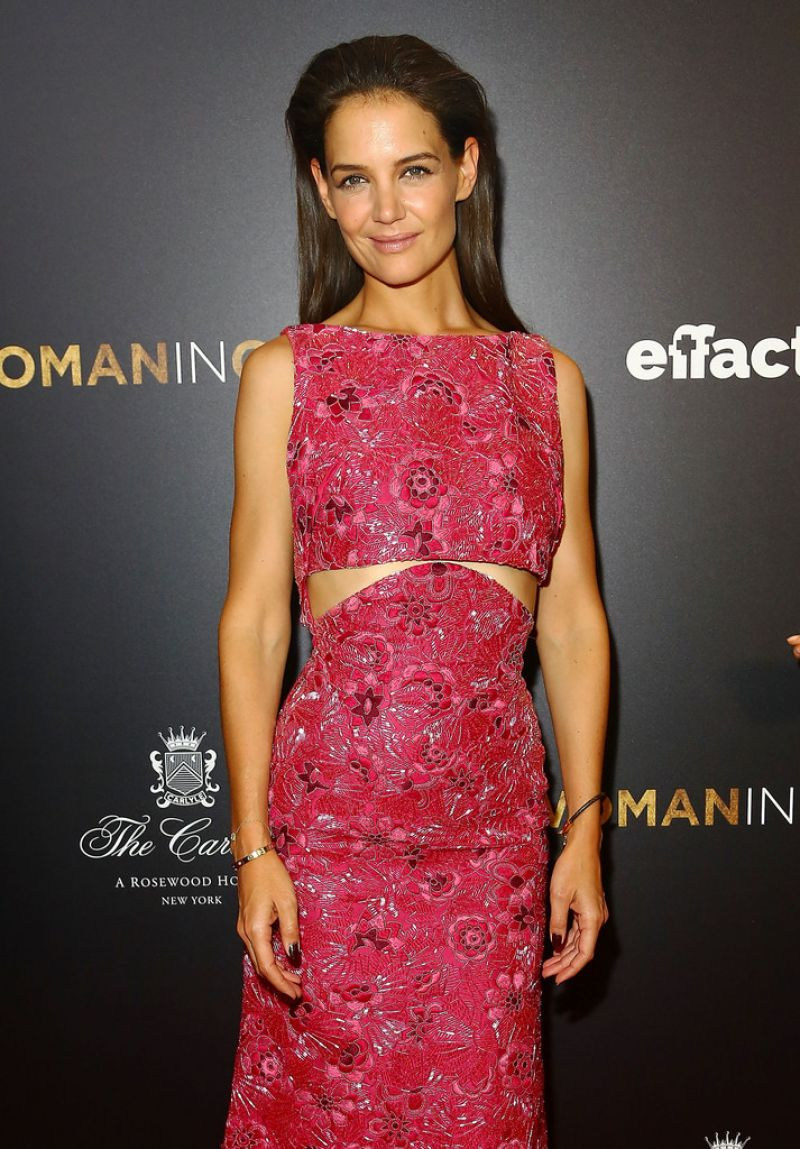 KATIE HOLMES at Woman in Gold Premiere in New York