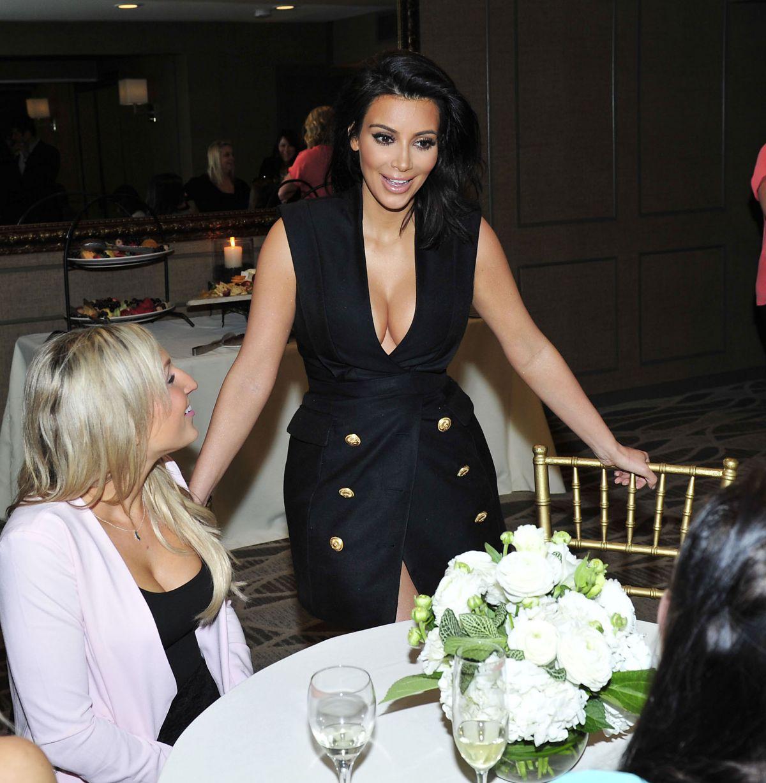 Kim Kardashian At Exclusive Meet And Greet For Kardashian Glow In