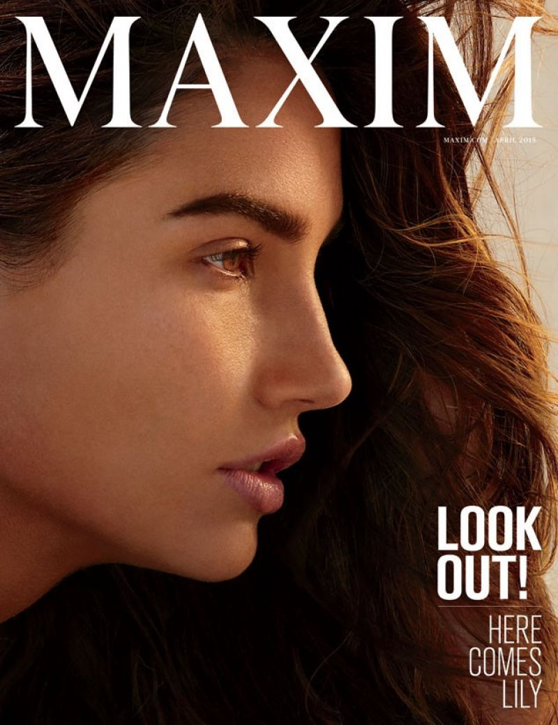 LILY ALDRIDGE in Maxim Magazine, April 2015 Issue
