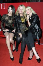 MICHELLE HUNZIKER and AURORA RAMAZOTTI at Versace Fashion Show in Milan