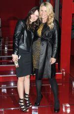 MICHELLE HUNZIKER and AURORA RAMAZOTTI at Versace Fashion Show in Milan