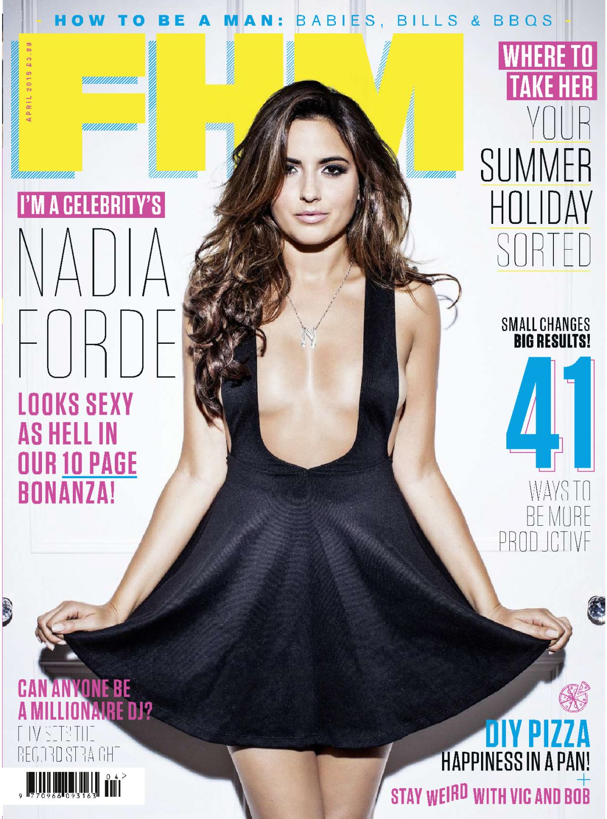 NADIA FORDE In FHM Magazine, April 2015 Issue