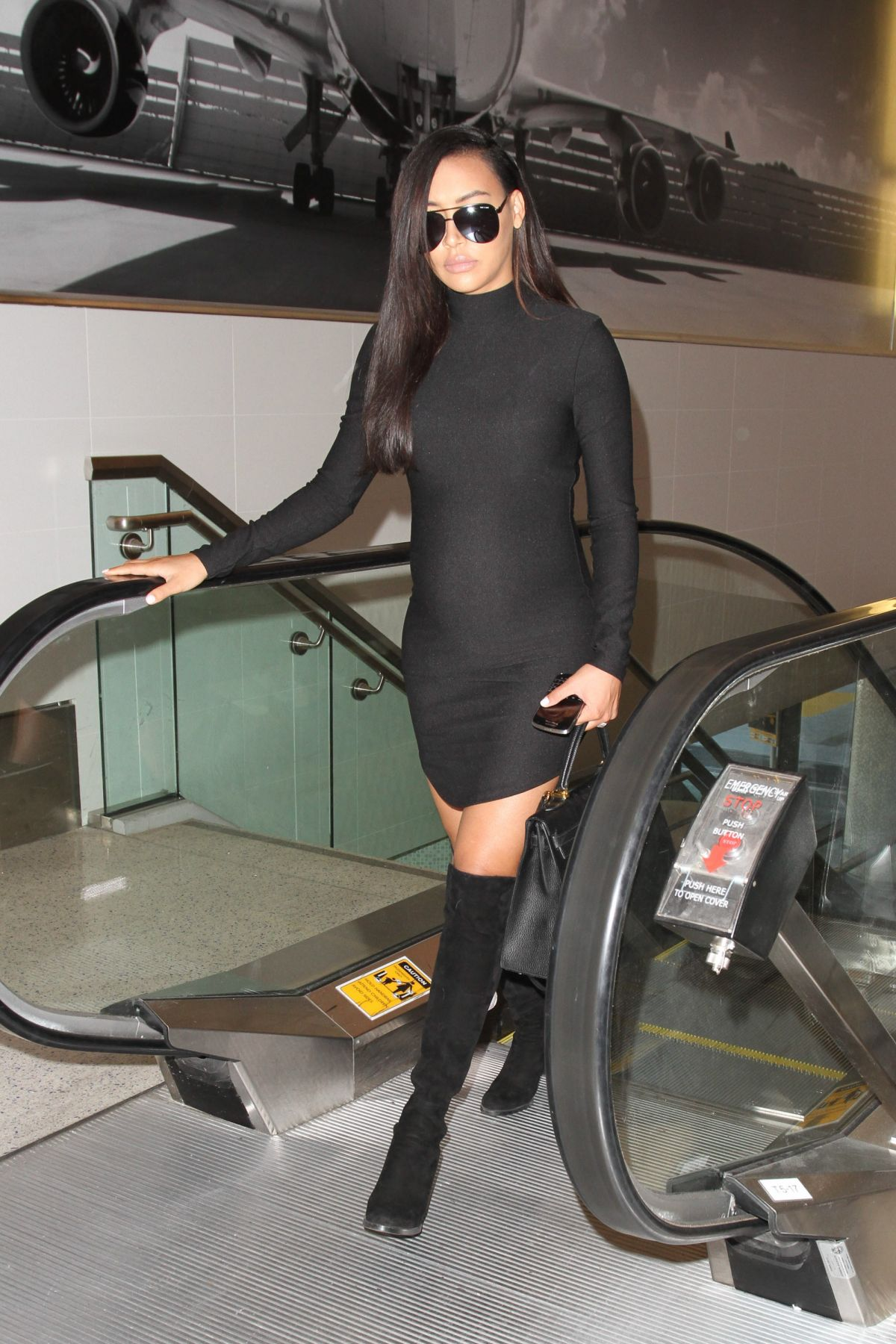 NAYA RIVERA at LAX Airport in Los Angeles 2303