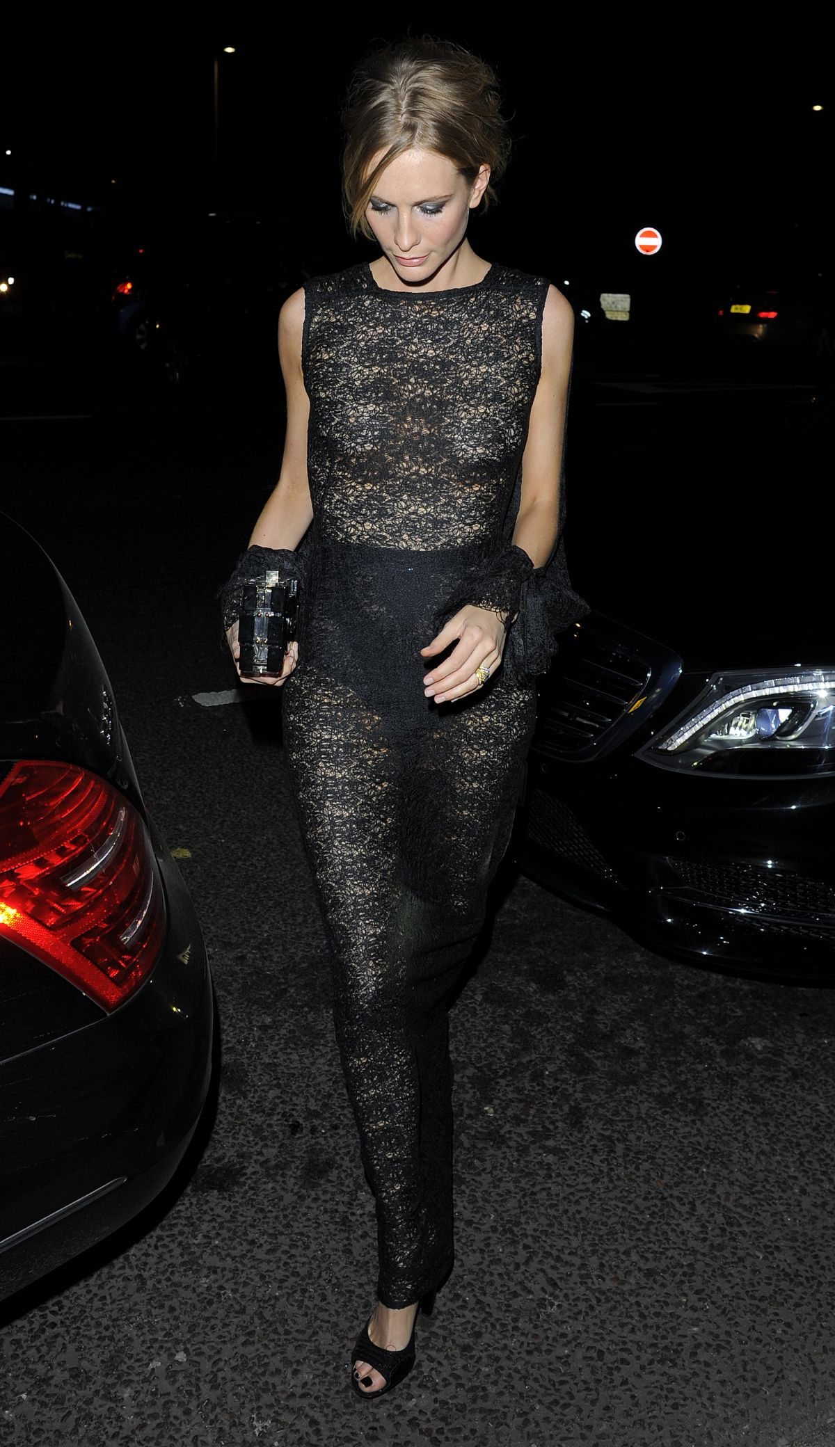 POPPY DELEVINGNE Arrives at Alexander Mcqueen: Savage Beauty  Exhibition