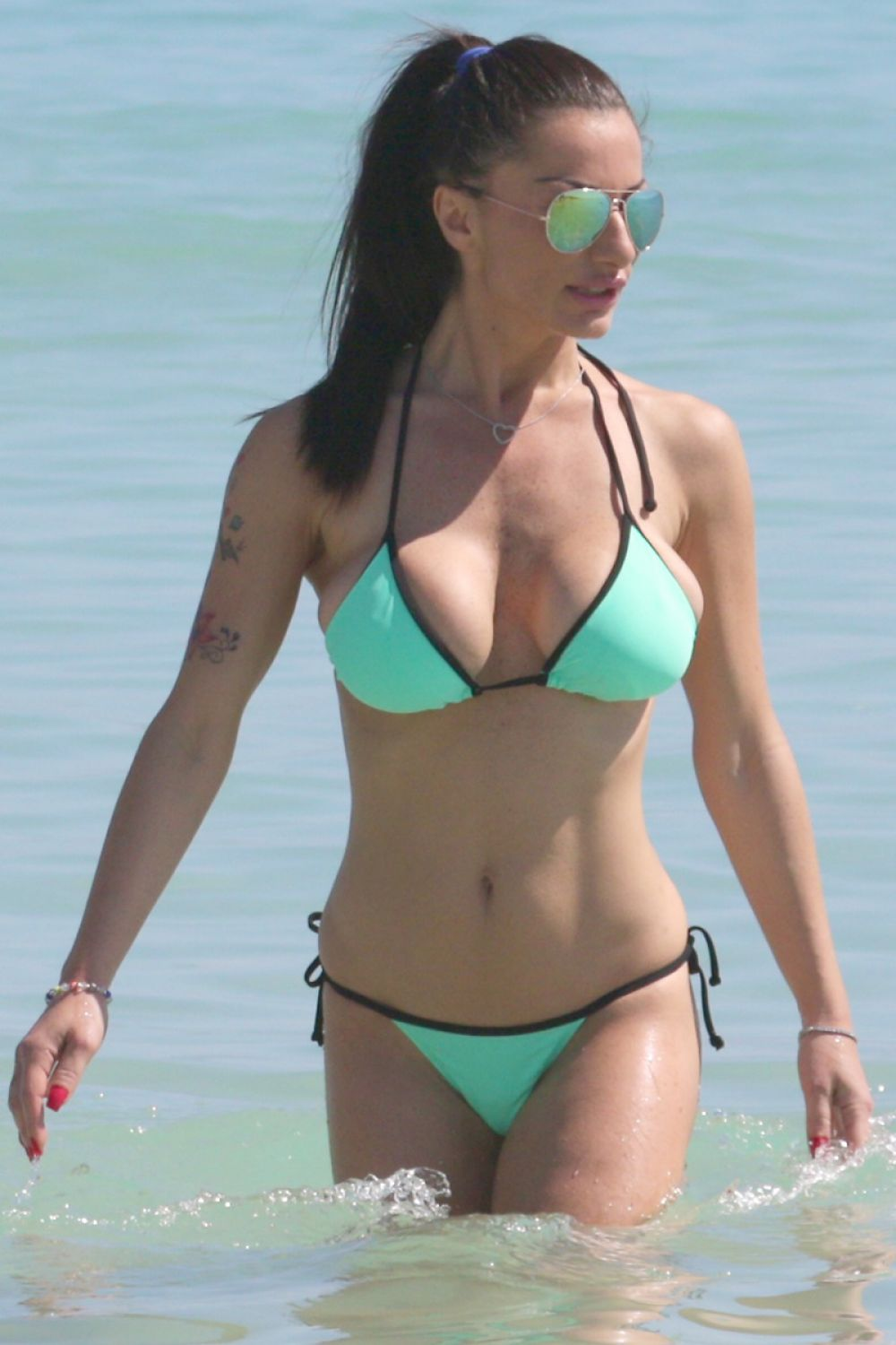 PRISCILLA SALERNO in Bikini at a Beach in Miami