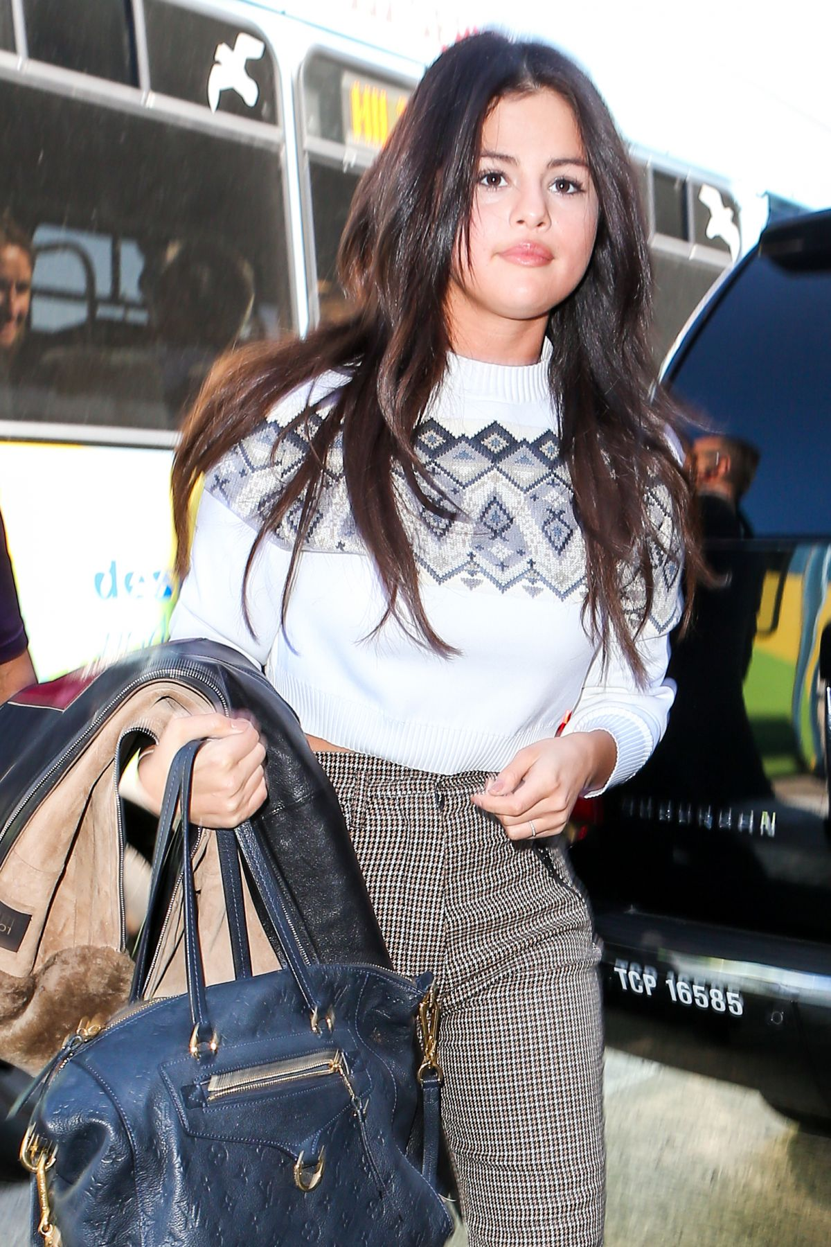 SELENA GOMEZ Departing from LAX Airport in Los Angeles 0903