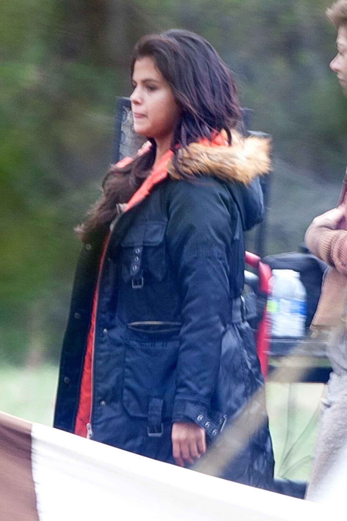 SELENA GOMEZ on the Set of In Dubious Battle in Atlanta
