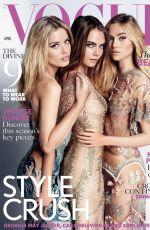 SUKI WATERHOUSE, GEORGIA MAY JAGGER and CARA DELEVINGNE in Vogue Magazine