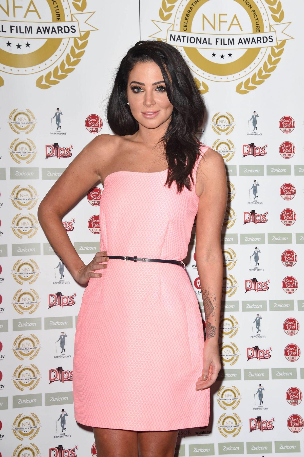 TULISA CONTOSTAVLOS at 1st National Film Awards in London
