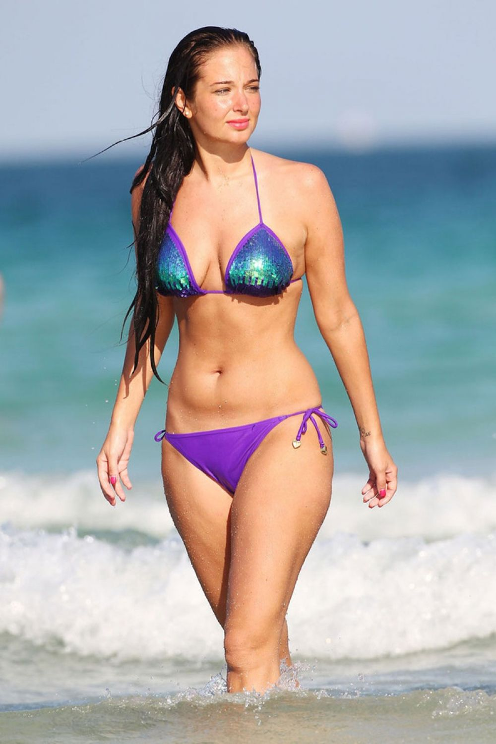 TULISA CONTOSTAVLOS in Bikini at a Beach in Miami 2402