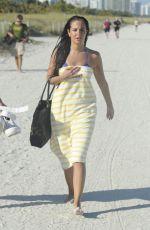 TULISA CONTOSTAVLOS in Bikini at a Beach in Miami 2402