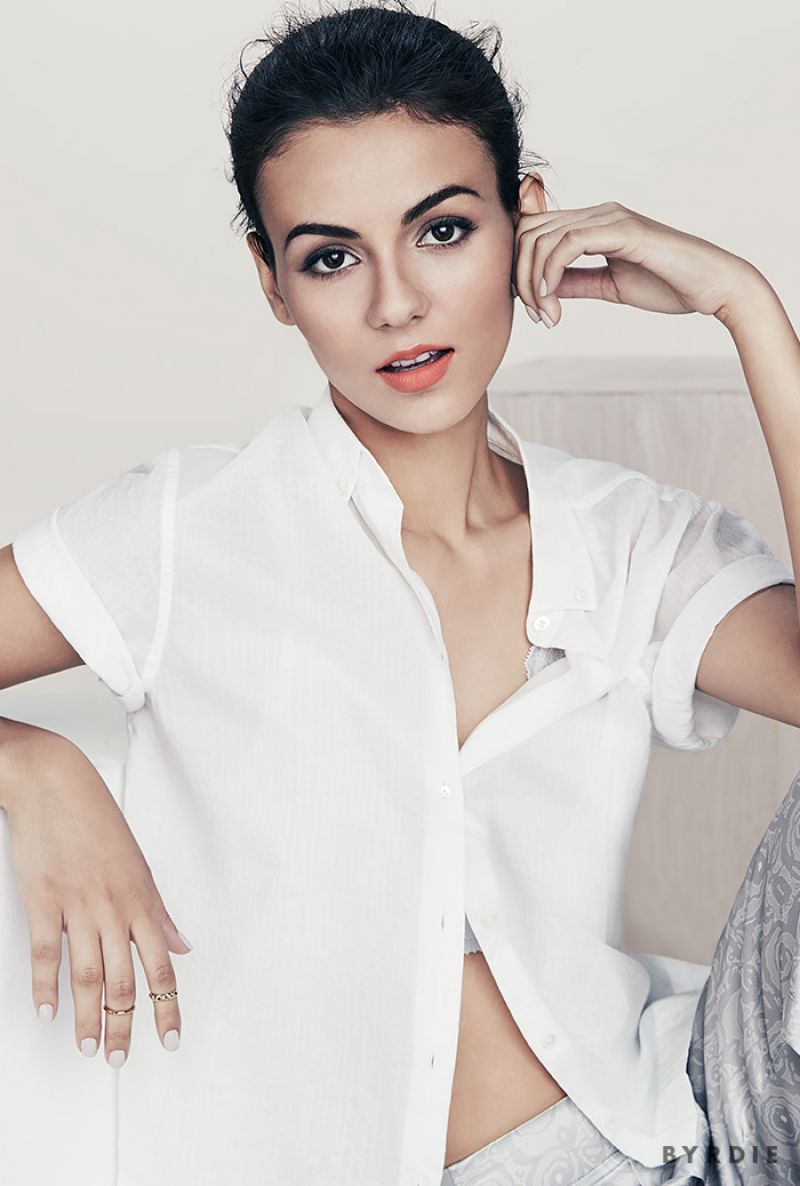 VICTORIA JUSTICE Byrdie Beauty Photoshoot