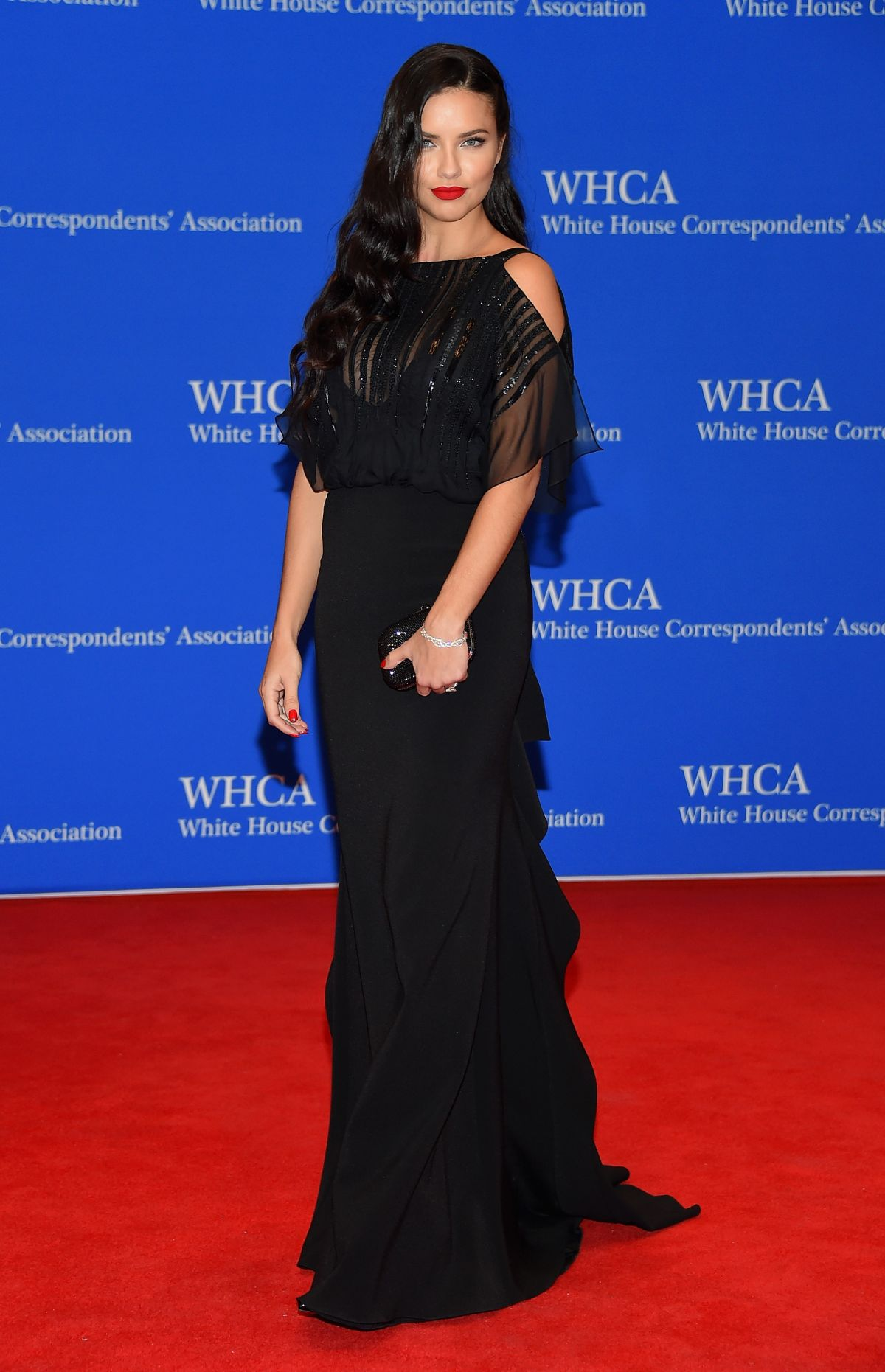 ADRIANA LIMA at White House Correspondents Association Dinner in Washington