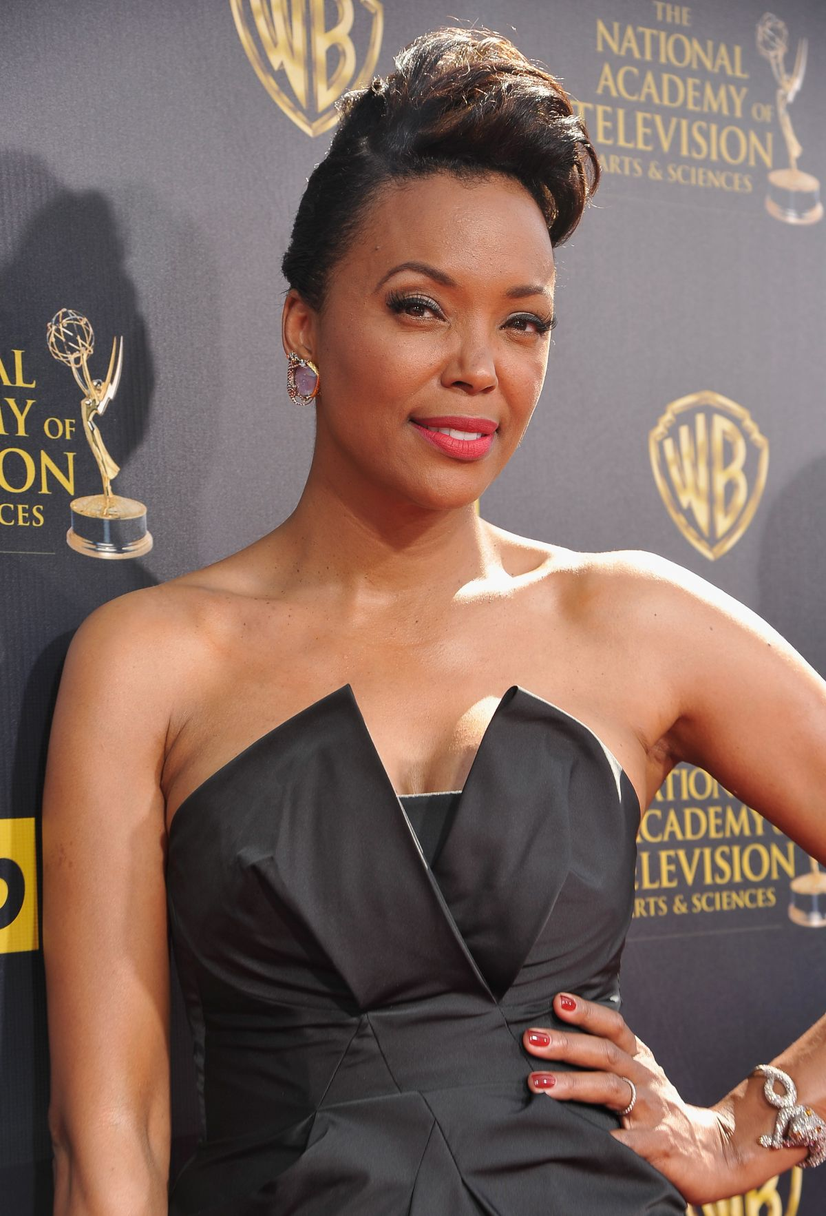 AISHA TYLER at 2015 Daytime Emmy Awards in Burbank