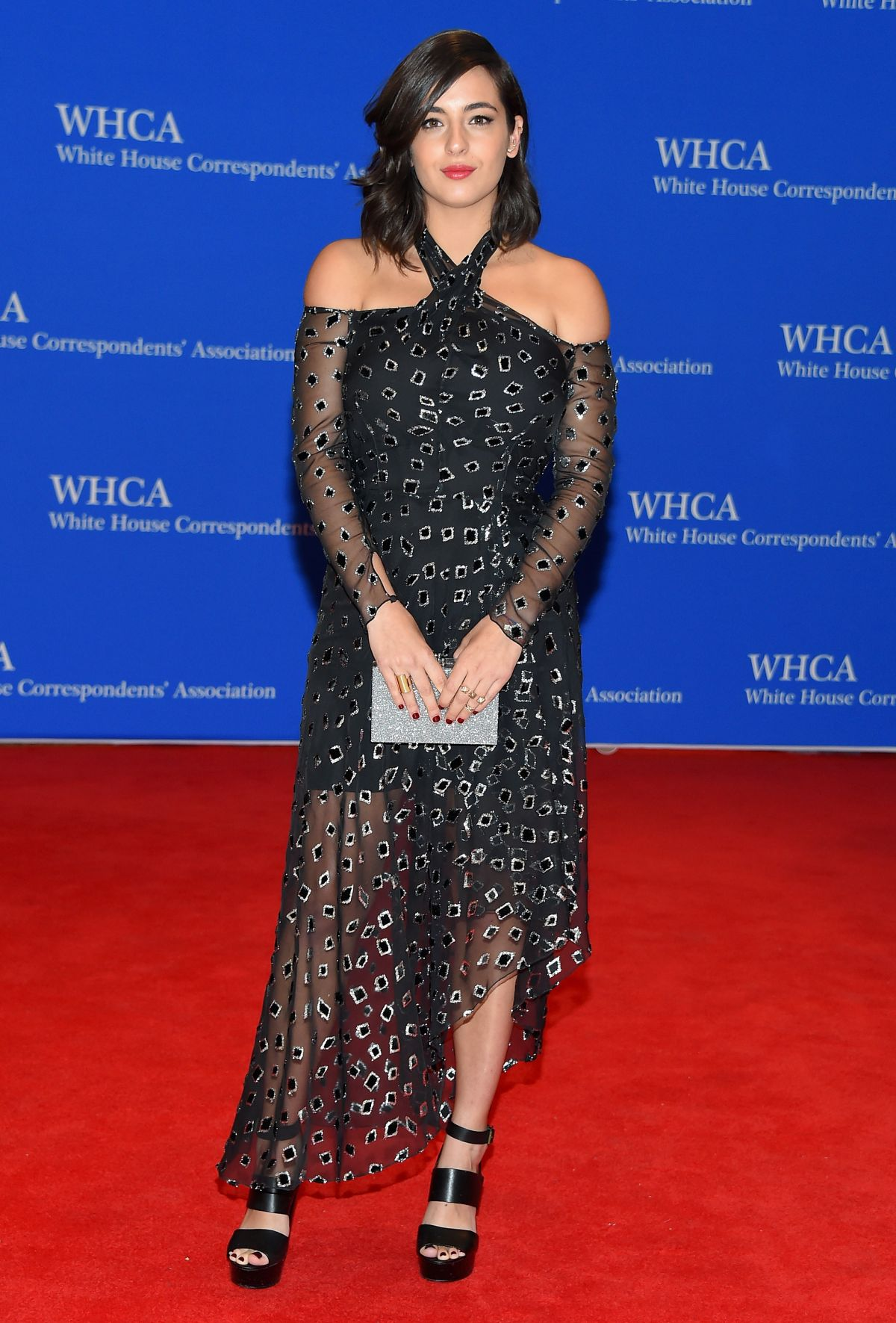 ALANNA MASTERSON at White House Correspondents Association Dinner in Washington