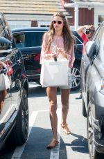 ALESSANDRA AMBROSIO in Shorts Leaves Brentwood Country Market