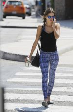ALESSANDRA AMBROSIO Leaves a Yoga Class in Brentwood