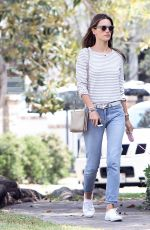 ALESSANDRA AMBROSIO Out and About in Brentwood 04/23/2015