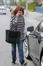 ALYSON HANNIGAN Out Shopping in Beverly Hills 04/21/2015