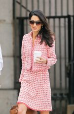 AMAL CLOONEY Out and About in New York