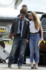 AMBER HEARD and Johnny Depp Arrives at Airport in Brisbane