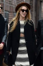 AMBER HEARD Out and About in New York 04/17/2015