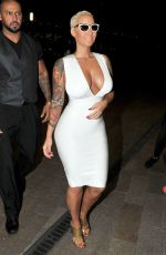 AMBER ROSE Arrives at Playground at Hilton in Liverpool