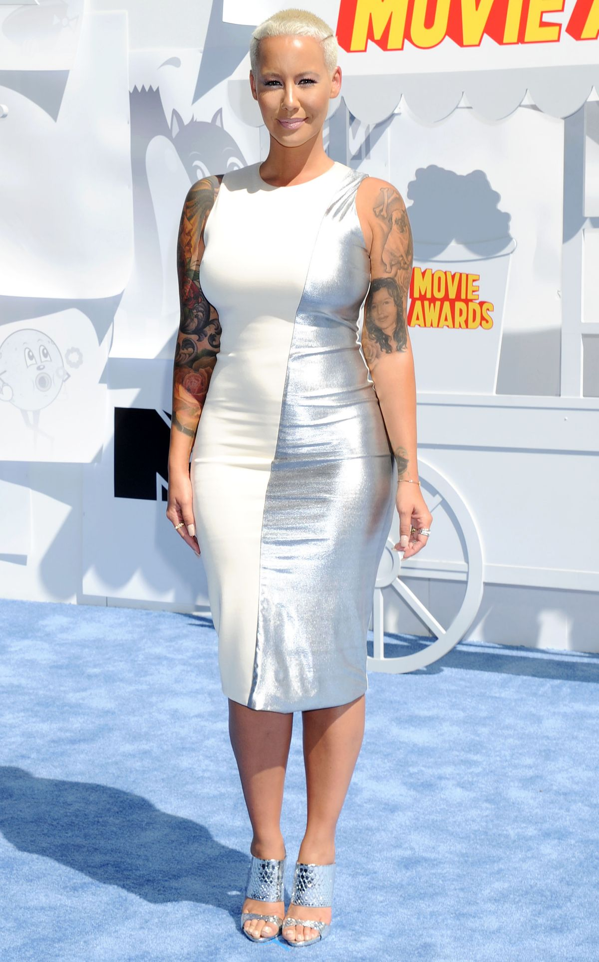 AMBER ROSE at 2015 MTV Movie Awards in Los Angeles