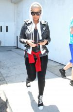 AMBER ROSE at LAX Airport in Los Angeles 04/19/2015