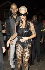AMBER ROSE Night Out in London 04/25/2015